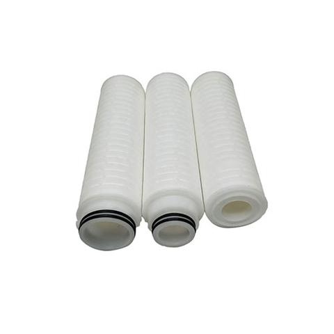Hydrophilic PTFE pleated filter cartridge